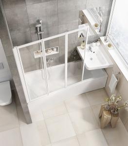 Шторка для ванны RAVAK VS3 - 115 (White - Transparent)