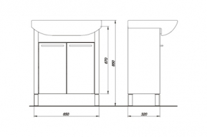 Набор мебели COLOMBO Лотос 1 (70 см.)