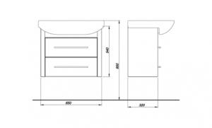 Набор мебели COLOMBO Лотос 2 (70 см.)