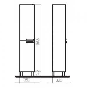 Шкафчик боковой , высокий KOLO Freja 88384