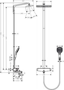 Душевая система с термостатом HANSGROHE Raindance Select 360 Showerpipe 27113000