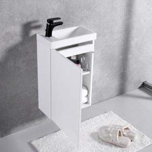 Шкафчик с умывальником FANCY MARBLE Java ШН-400 + Ida 400 (Белый)