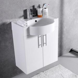 Мебель для ванной комнаты Шкафчик с умывальником FANCY MARBLE Ibiza  ШН-612 + Comfort 612C (Белый)