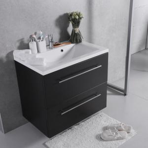 Мебель для ванной комнаты Шкафчик с умывальником FANCY MARBLE Goa ШН-72 + Dallas (Венге)