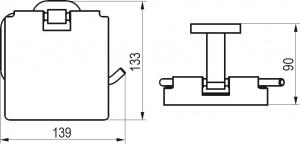 Держатель туалетной бумаги RAVAK CR 400.00