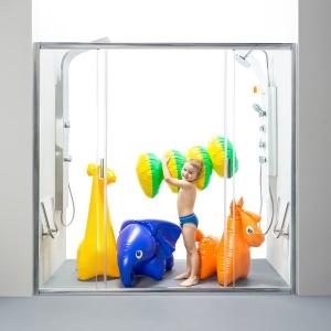 Душевая дверь RAVAK BLDP4 - 130 (Satin - Transparent)