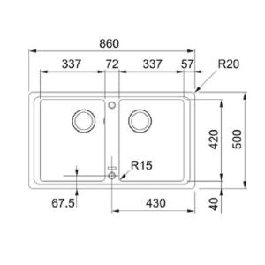 Кухонная мойка FRANKE Basis BFG 620 (114.0363.938)