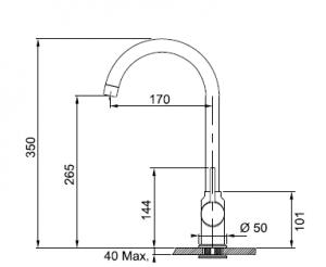 Cмеситель кухонный FRANKE Pola (115.0298.091)