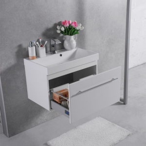 Шкафчик с умывальником FANCY MARBLE Corsica ШН-700 + Signe (Белый)