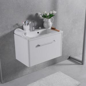 Мебель для ванной комнаты Шкафчик с умывальником FANCY MARBLE Bali 50 + Annabelle (Белый)