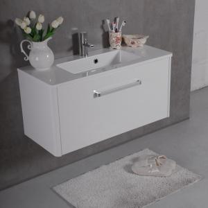 Мебель для ванной комнаты Шкафчик с умывальником FANCY MARBLE Bali 80 + Annabelle (Белый)