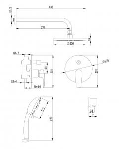 Душевая система IMPRESE Jesenik VR-15140