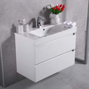Мебель для ванной комнаты Шкафчик с умывальником FANCY MARBLE Borneo 900 + Amelia (Белый)