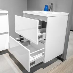 Шкафчик с умывальником FANCY MARBLE Borneo 900 + Amelia (Белый)