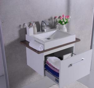 Шкафчик с умывальником FANCY MARBLE Santa Cruz + Lily 600C (столешница Вяз одеон)