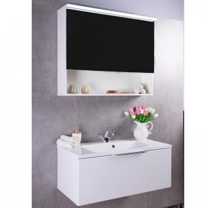 Шкафчик с зеркалом  FANCY MARBLE MC-Okinava 1000 (Белый)