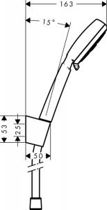 Душевой гарнитур HANSGROHE Crometta 100 Vario Porter 26666400