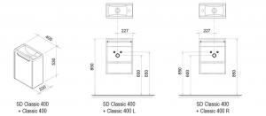 Шкафчик под умывальник RAVAK SD Classic 40x22 (цвет корпуса Капучино)