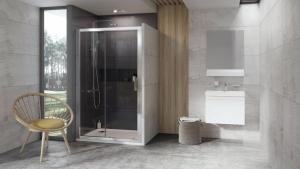 Душевые двери RAVAK 10° 10DP2 - 120 (Полированный алюминий - Transparent)