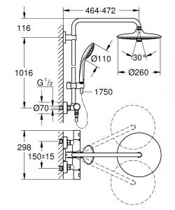 Душевая система GROHE Euphoria System 260 27296002