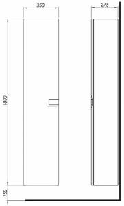 Шкафчик боковой, высокий KOLO Twins 88460