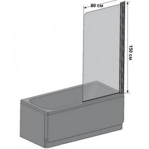 Шторка для ванны EGER 599-02 L/R (80х150)