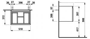 Шкафчик под умывальник LAUFEN Pro S H4830210954631 (50)