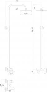 Душевая система GLOBUS LUX Prizma DS-0010