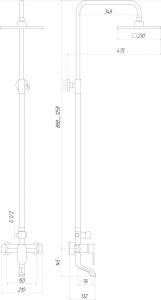 Душевая система GLOBUS LUX DS-006A