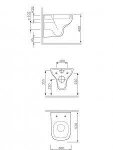 Унитаз подвесной AM PM Like C801700SC FlashClean с крышкой duroplast Soft Close