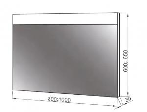 Зеркало ЮВВИС Валенсия Z-80 LED