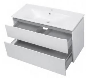 Шкафчик с умывальником ЮВВИС Этна 105 ТПБ-2 Д серый