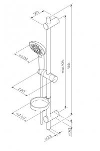 Душевой гарнитур AM PM Spirit 2.0 F0170A000