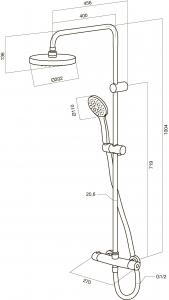Душевая система с термостатом AM PM Sense F0775000