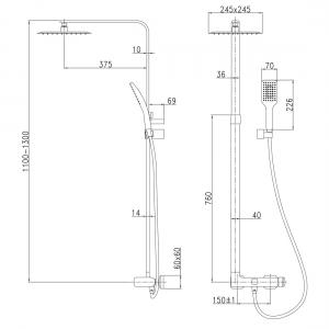 Душевая система IMPRESE Odlove T-15300