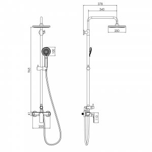 Душевая система IMPRESE Bilina T-15225