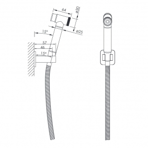 Душевой гигиенический гарнитур IMPRESE Grafiky ZMK041807121