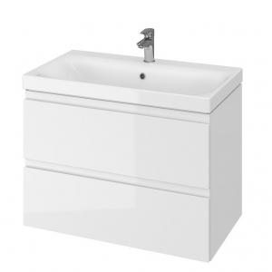 Мебель для ванной комнаты Шкафчик с умывальником CERSANIT Moduo 80 (B14) - белый