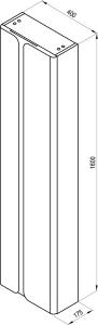 Пенал RAVAK SB Balance 400 (белый/графит)
