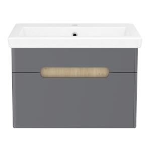 Шкафчик с умывальником VOLLE Puerta 60 - 1 ящик (Серый)