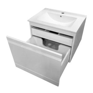 Шкафчик с умывальником VOLLE Orlando 60 (Белый)