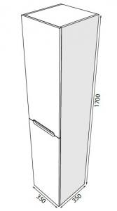 Пенал RADAWAY Laura 35 (170)