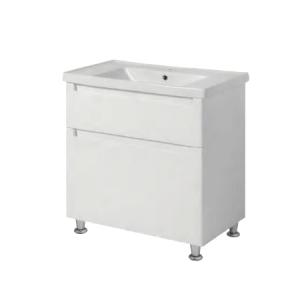 Мебель для ванной комнаты Шкафчик с умывальником ЮВВИС Эльба Канте 80 ТНБ-2 Д