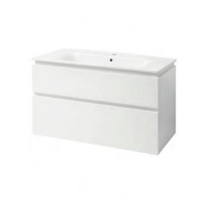 Мебель для ванной комнаты Шкафчик с умывальником ЮВВИС Этна 90 ТПБ-2 Д