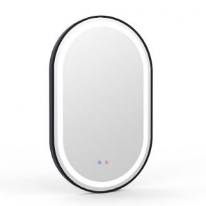 Мебель для ванной комнаты Зеркало VOLLE 50x80 с подсветкой, диммером, подогревом - black