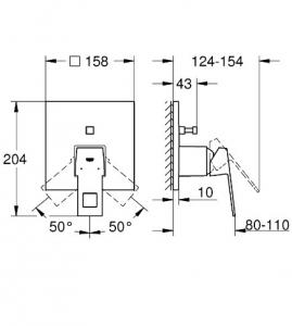 Душевая система GROHE Euphoria Cube 152