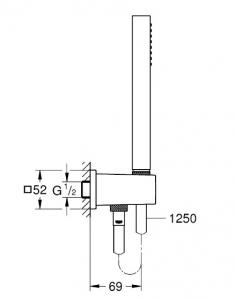 Душевая система GROHE Grohtherm GRT SmartControl Cube с термостатом