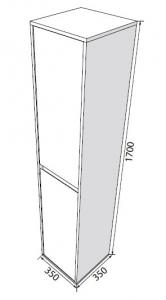 Пенал RADAWAY Elegant 35 (170)