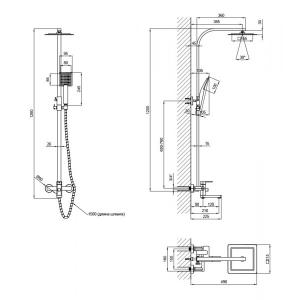 Душевая система LIDZ (CRM) 17 35 106 01 (SD00038633)