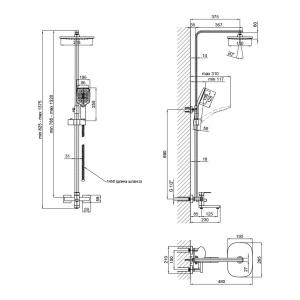 Душевая система LIDZ (BLA) 10 30 1005A (SD00041827)